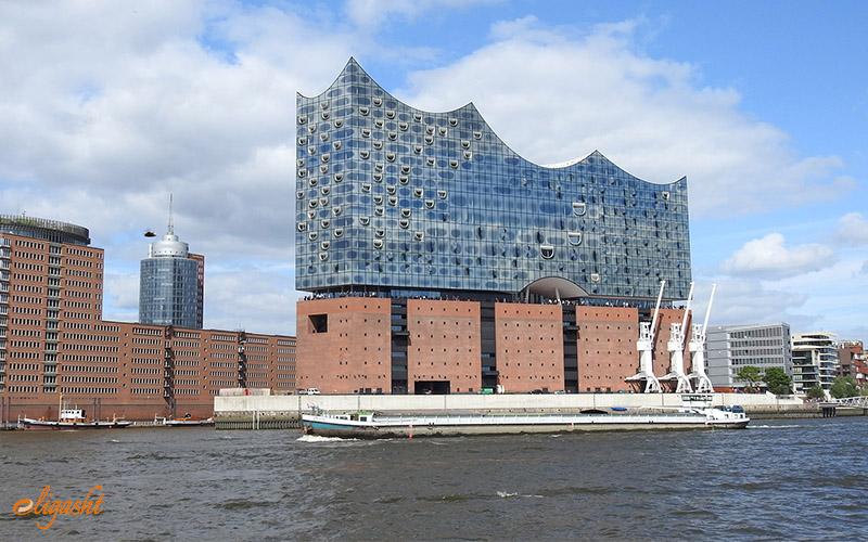 New buildings in Hamburg