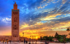 Iconic Marrakech Mosque