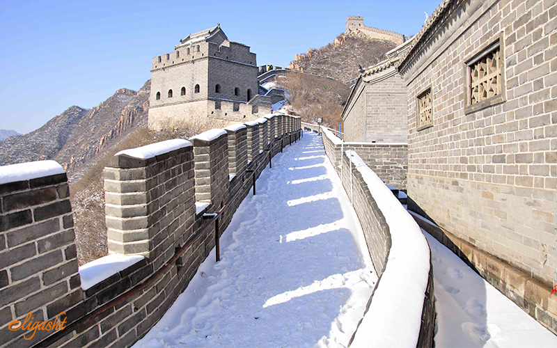 Great Wall of China in Snow