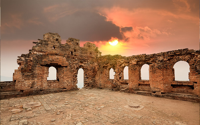 sunset-in-Great-Wall-of-China