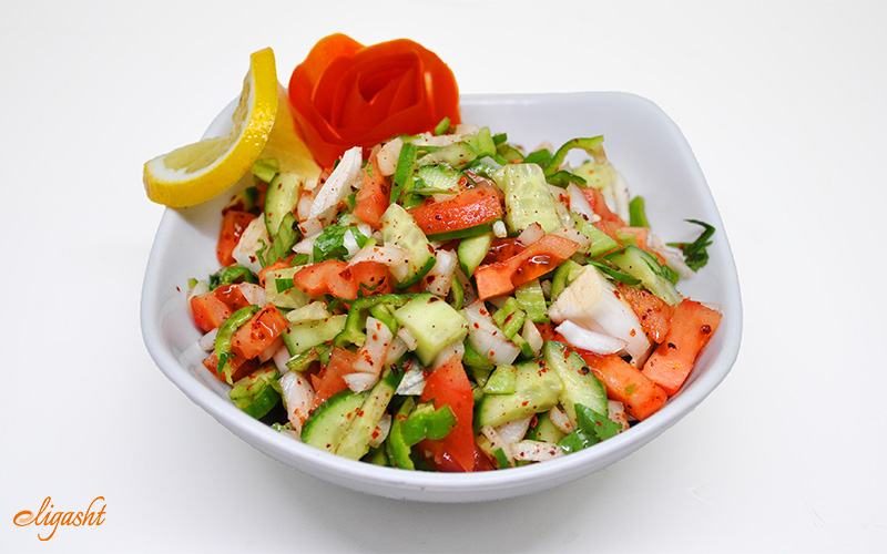 Turkish vegetarian salad