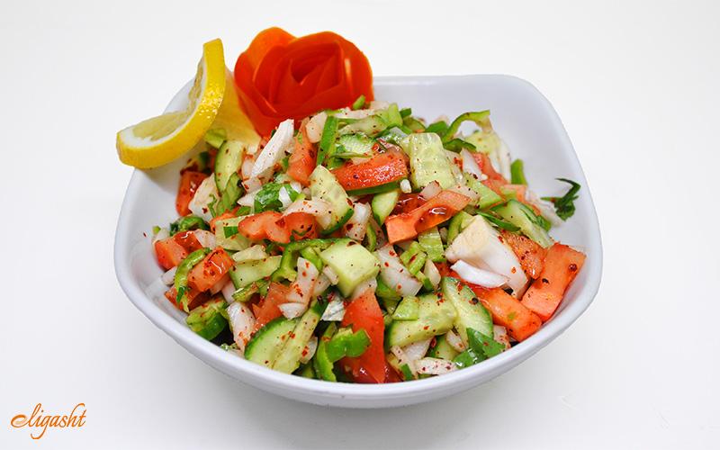 Turkish vegetarian salad