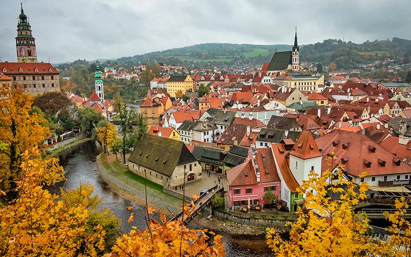 Prague in fall