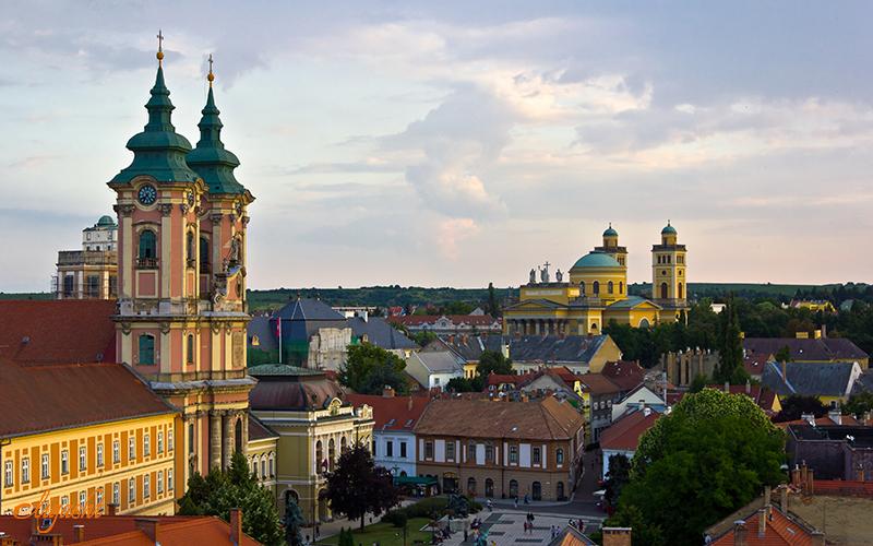 Beautiful city of eger near Budapest