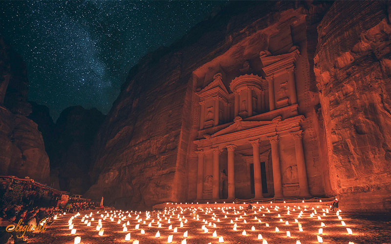 Petra was built by the ancient community of Nabateans