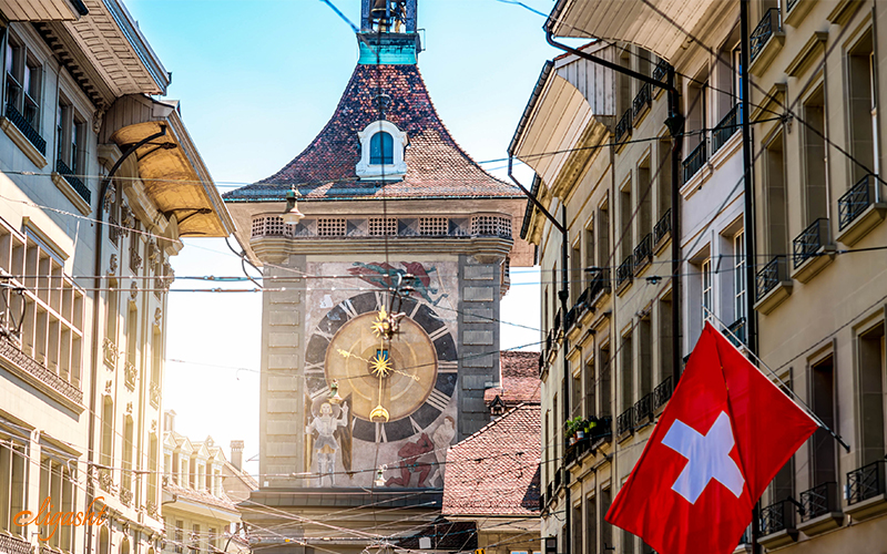 Zytglogge or clock tower in Bern