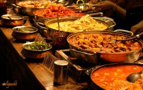 Indian dishes in India