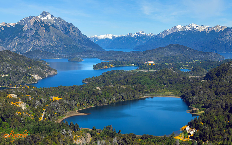Lake district in Chile